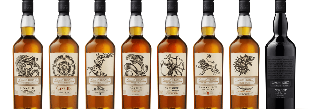 Diageo teams up with HBO to release a limited-edition The Game of Thrones Single Malt Scotch Whisky Collection to celebrate the final season of the TV series.