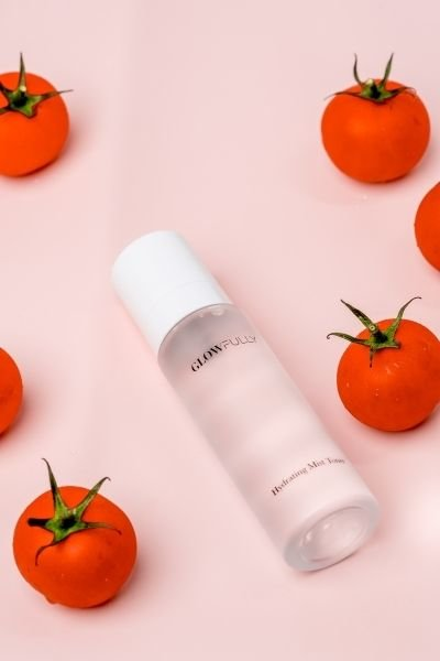 An example of a cooling skincare product is the Glowfully Skin Hydrating Mist Toner