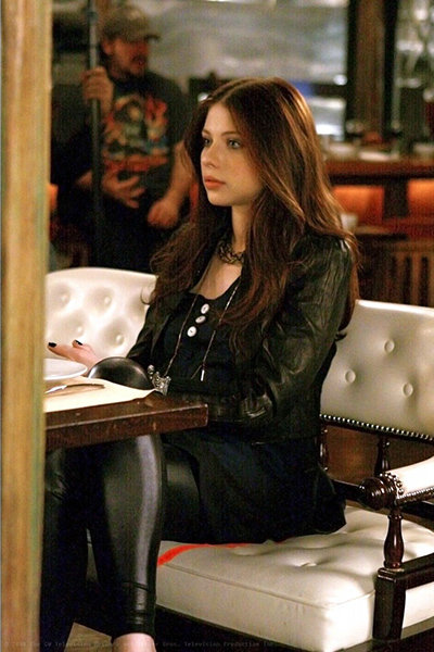 Georgina Sparks in leather pants