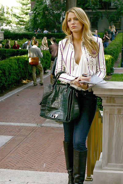 Serena van der Woodsen in white blazer