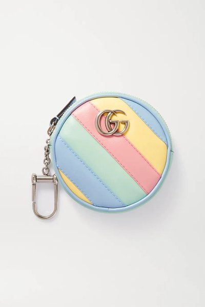 Gucci GG Marmont Small Striped Leather Wallet