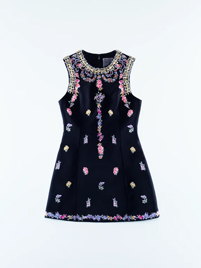 H&M x Giambattista Valli collab Dress with embroidery