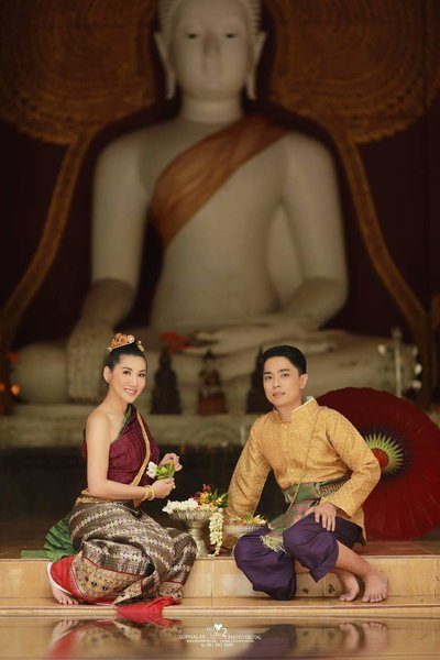 Couple In Traditional Thai Clothing