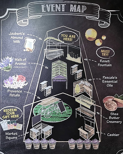 L'Occitane Beauty Market event map