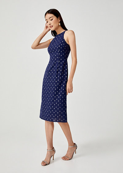 Love, Bonito x Camille Co Collection Bianca Halter Neck Midi Dress