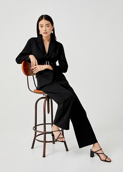 Love, Bonito x Camille Co Collection Donatella Belted Straight Leg Pants