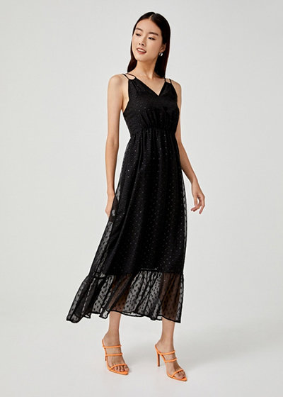 Love, Bonito x Camille Co Collection Makena Ruffle Hem Maxi Dress