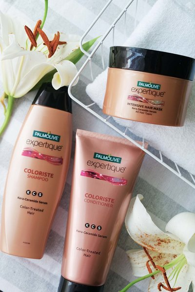 Palmolive Expertique Coloriste Shampoo and Conditioner are made especially for coloured hair.