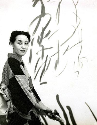 A portrait of the artist Toko Shinoda
