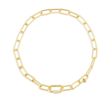 Try out the chunky gold jewellery trend with this gold link chain necklace from apm Monaco