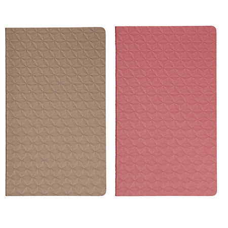pink and gold notebooks