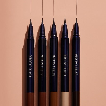 A photo of all five shades of the Estée Lauder Featherlight Brow Enhancer