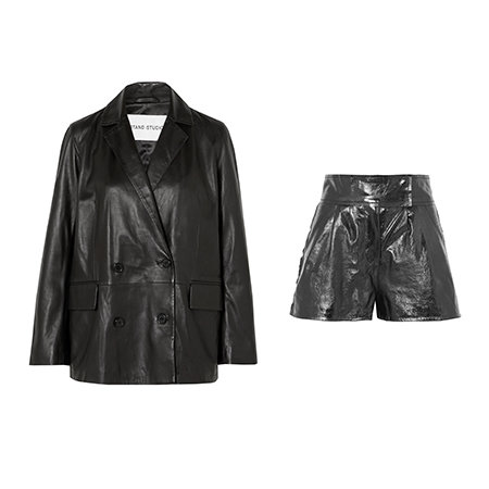 Pernille x STAND Leather suit coords