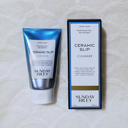 Sunday Riley Ceramic Slip Cleanser's metallic packaging