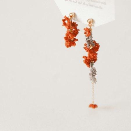 cotoyo matsue Fern leaves pierced earrings