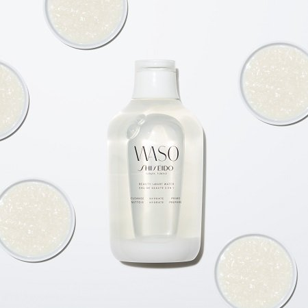A styled photo of the WASO Beauty Smart Water