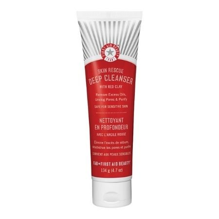 A shot of the First Aid Beauty Skin Rescue Deep Cleanser With Red Clay