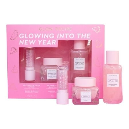 A shot of the Glow Recipe Glowing Into The New Year Skincare Trio