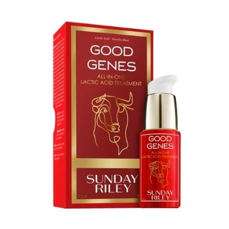 A product shot of the SUNDAY RILEY Good Genes All-in-One Lactic Acid Treatment