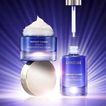 Some of the products in the LANEIGE Perfect Renew Youth Series