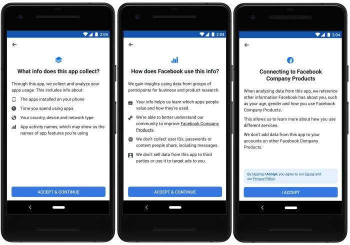 Will You Let Facebook Monitor Your Phone For Money? - Study by Facebook policies and privacy terms