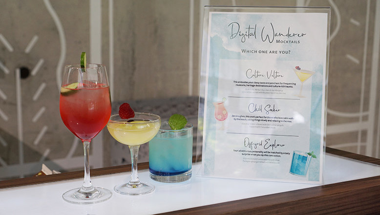 Mocktails and a menu for the Free Flow Event