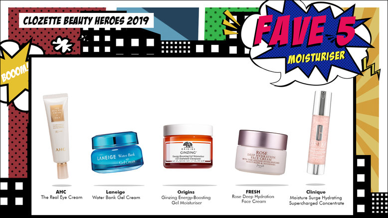Clozette Beauty Heroes 2019 Best Moisturisers
