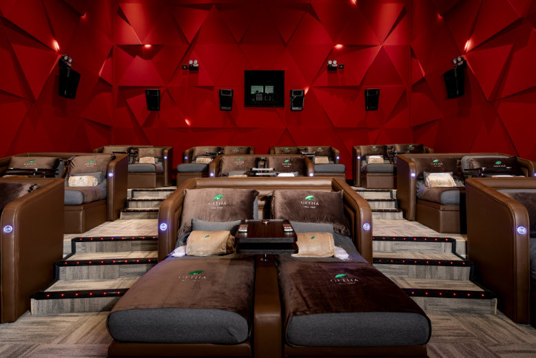 One luxurious way to celebrate Valentine's Day in Malaysia is to go film viewing at the Aurum Theatre in Johor Bahru