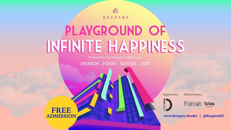 A poster detailing event details of the Playground of Infinite Happiness by Keepers