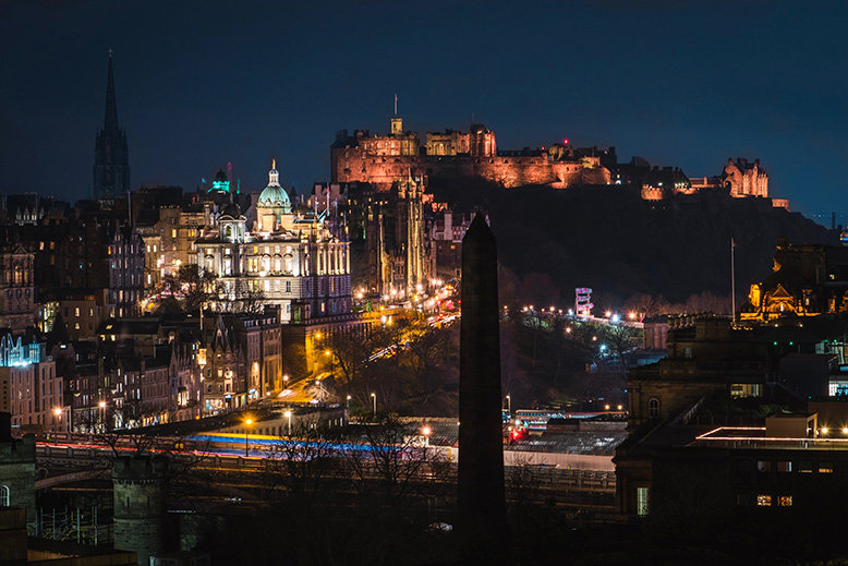 Edinburgh, Scotland at night