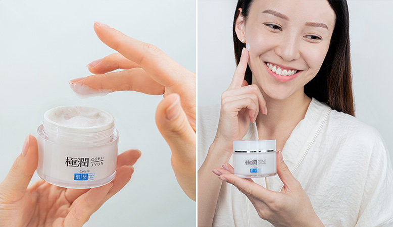 Hada Labo Hydrating Cream Texture and Application