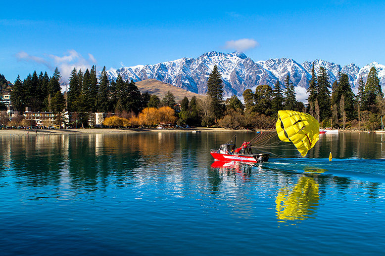 Parasailing in Queenstown