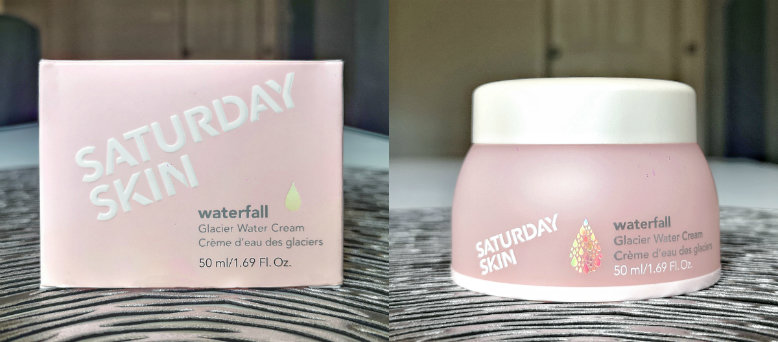 A pink box and a pink tub of moisturising cream