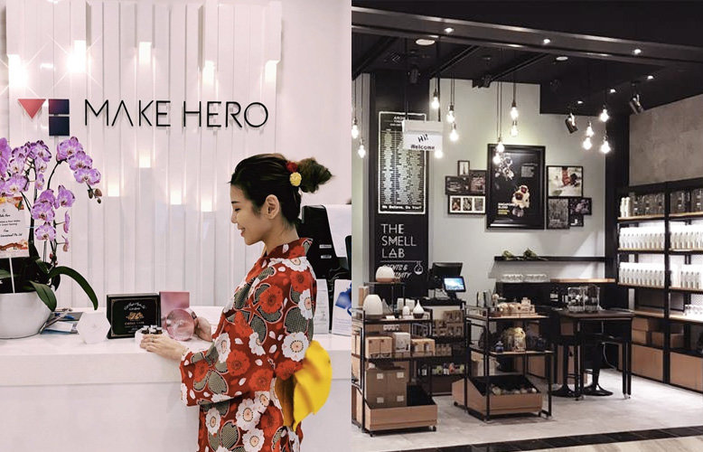Make Hero and The Smell Lab at Jewel Changi Airport shops