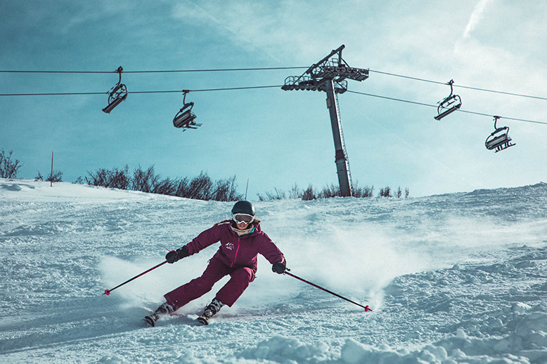 Skiing is one extreme activity you can try in Asia
