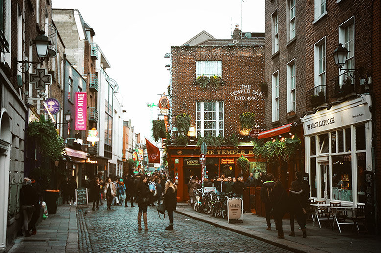 Temple Bar, a street in Dublin, Ireland