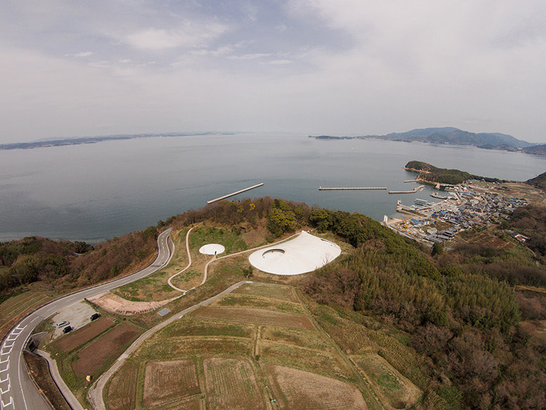 Panorama of Teshima Art Museum