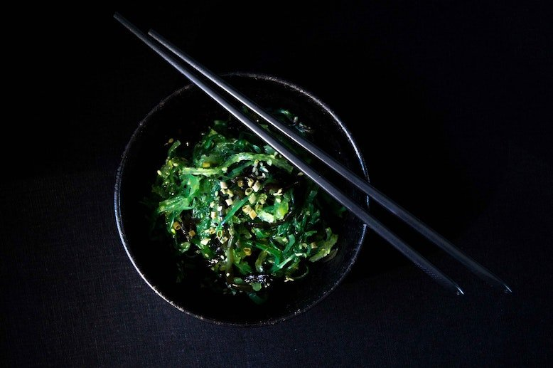 Wakame Salad In Bowl