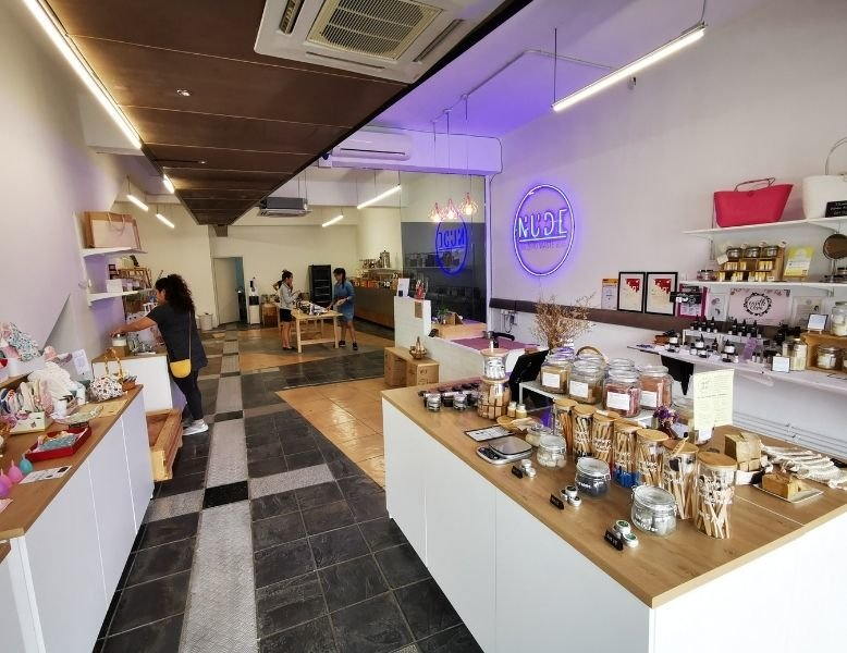 Interior of the NUDE The Zero Waste Store in Malaysia