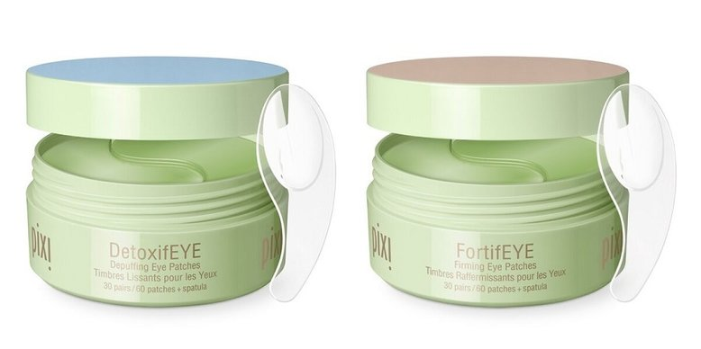 Pixi Hydrogel Eye Patches in FortifEYE and DetoxifEYE