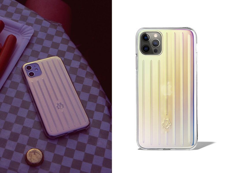 rimowa iridescent phone case