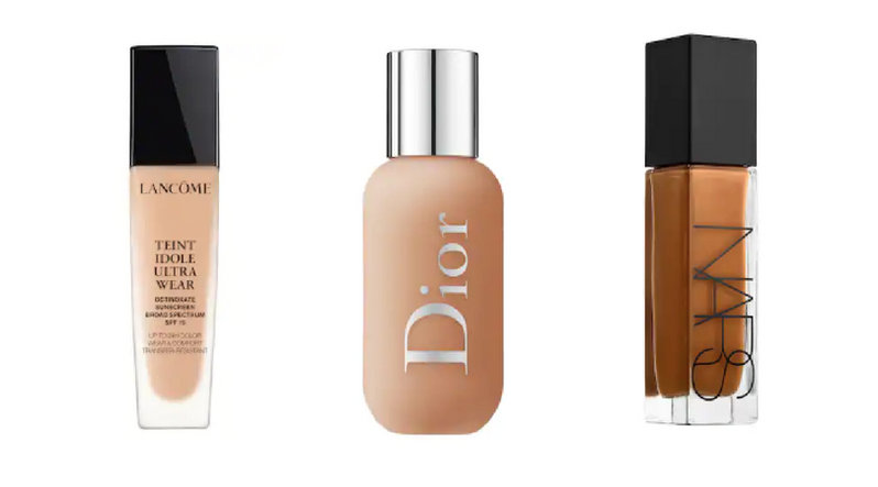 3 different foundation bottles