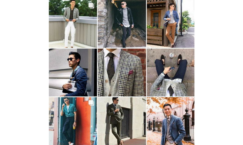 A collage of a man wearing dapper suits