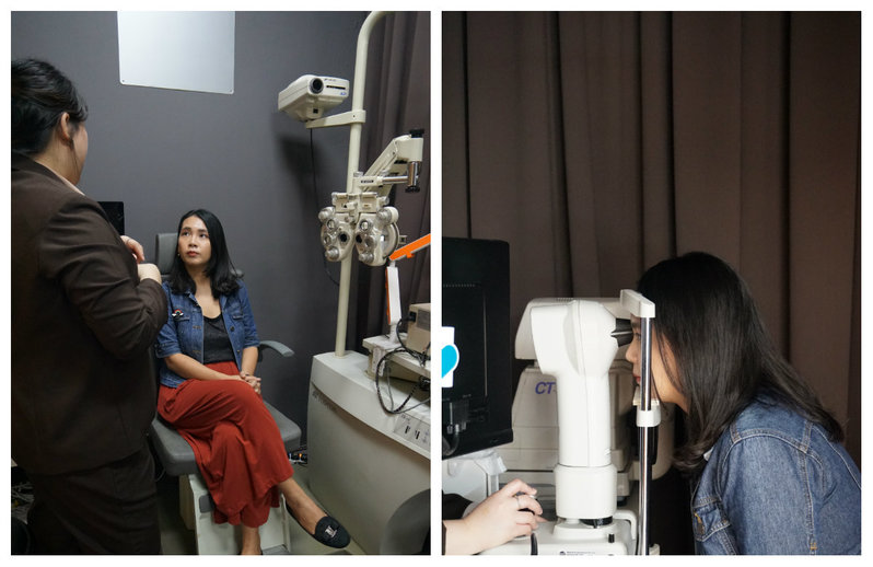 Jessie has her eyes checked years after getting LASIK
