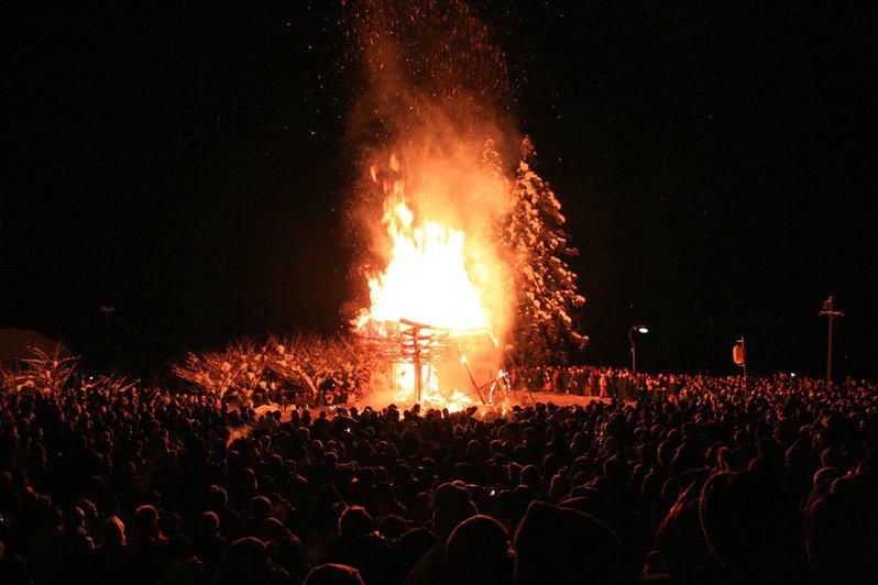 Nozawa Onsen Fire Festival