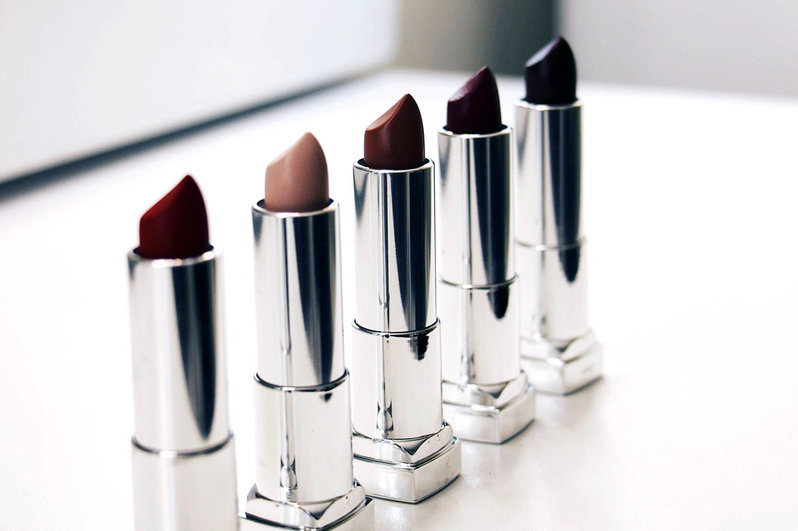 Apply a darker shade of nude lipstick before applying a lighter shade
