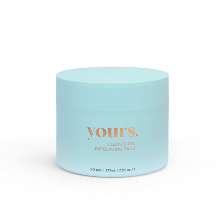 A product photo of the Yours Clean Slate Exfoliating Pads