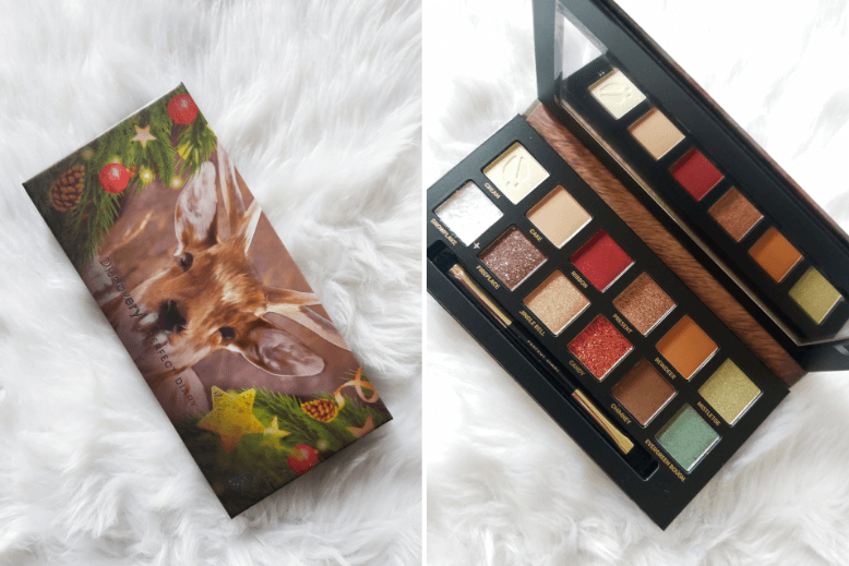 A closed and open shot of the Perfect Diary Discovery Explorer Deer Eyeshadow Palette