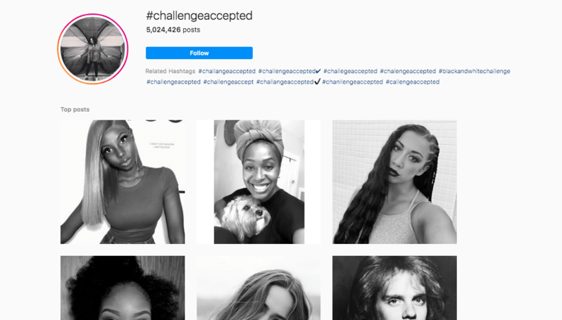 #ChallengeAccepted tag on Instagram