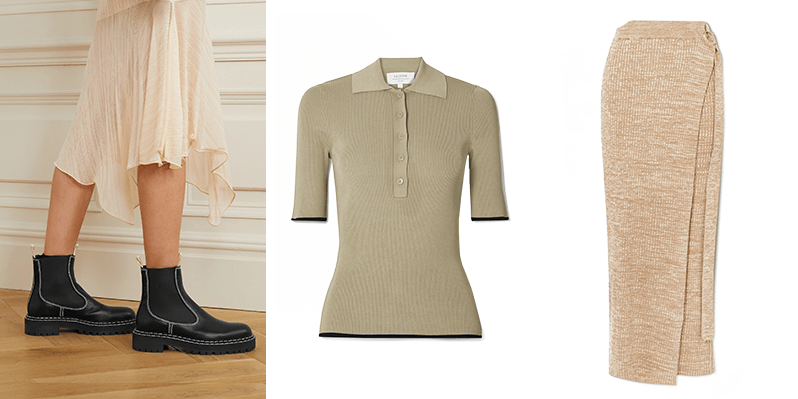chelsea boots and athleisure separates at net-a-porter